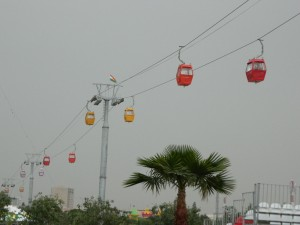 A cable car above Shanadar Park in Erbil (Photo credit: Beth Kangas, 2013)