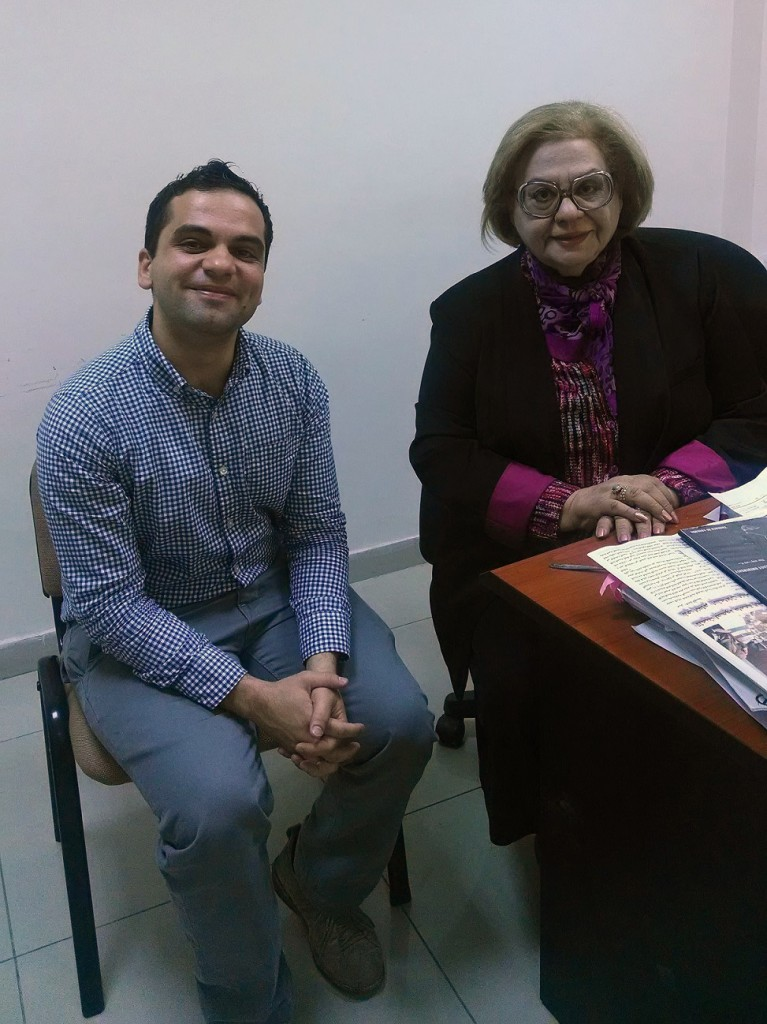 Louis Yako (left) with an Iraqi professor of media (Photo credit: Louis Yako, 2014)