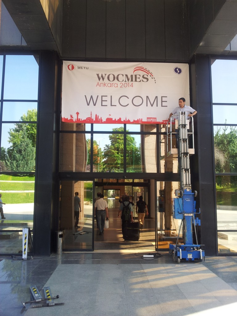 The entrance of the Culture and Convention Center (CCC) of the Middle East Technical University (METU) - Ankara, where WOCMES 2014 was held (Photo credit: Faris Nadhmi, 2014)